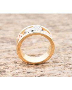 Ring  Elefant 14 K Tricolor 13,4 g Rg 58