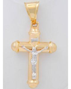 Kreuz 14 K Gelbgold/Weißgold 9,8 Gramm