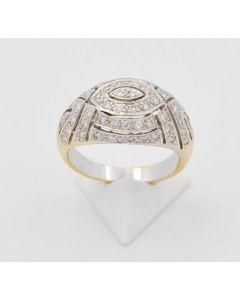 Ring Brillant 18 K Gelbgold 7,3 Gramm Rg 55