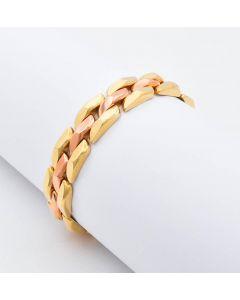 Armband bicolor 14K Gold 30,7 g 19,5 cm