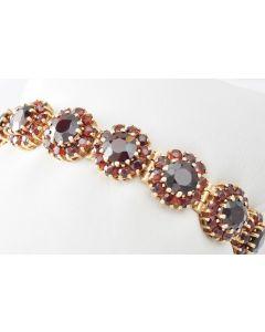 Granat Armband 585 Gelbgold 18 cm