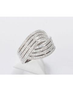 Brillant Ring 18K Weißgold 151 Brillanten