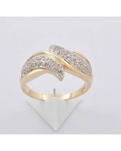 Diamantring 585 Gelbgold 62 Diamanten 0,40ct