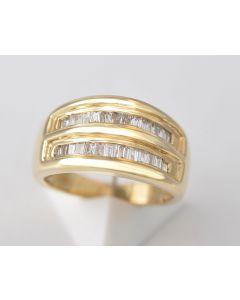 Diamantring 18K Gelbgold 26 Diamanten