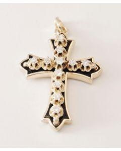 Anhänger Kreuz Brillant 585 Gelbgold 0,33 ct