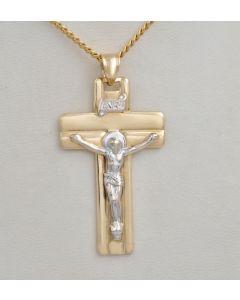 Anhänger Kreuz 14K Gold