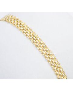 Armband 8K Gelbgold 19cm