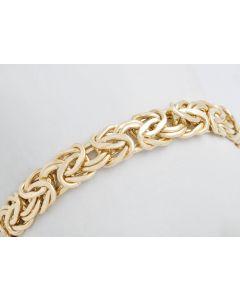 Königsarmband 14 Karat Gold 19,5cm