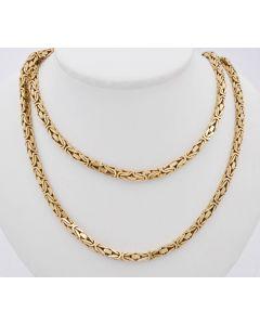 Königskette Halskette 14K Gelbgold 81,2 Gr. 88 cm
