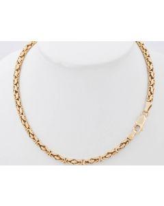 Königskette Halskette Rund 14K Gelbgold 46 Gr. 57 cm