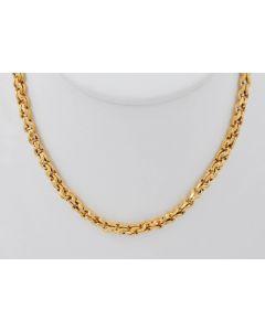 Zwillingsankerkettte Halskette 14 K Gelbgold 14 Gr. 60 cm
