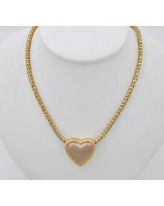 Halskette Kette Collier 14K Gelbgold mit Herzanhänger 26,6g 45cm