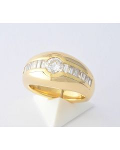 Brillantring 18K Goldring Brillanten 750 Gold