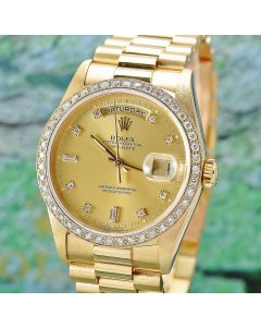 Rolex Day Date 18k Gold Ref. 18238 Double Quick