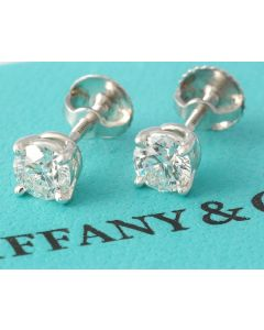 Tiffany & Co. Platin Ohrringe mit Brillanten 0,80 Karat 950 UNGETRAGEN