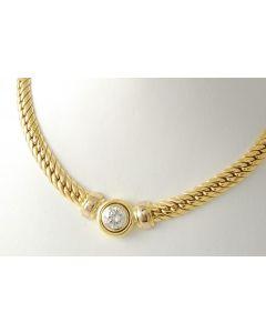 Brillant 2,09 ct IF Lupenrein Halskette Collier 750 Gold *HRD ZERTIFIKAT*