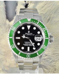 Rolex Submariner 16610LV Grün BOX PAPIERE 2007