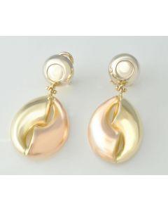 Gold Ohrringe 585 Gelbgold Weißgold Rotgold