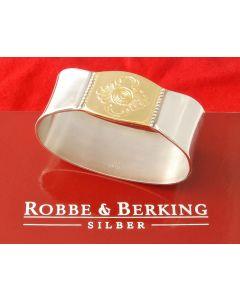 Robbe & Berking Silber Rosenmuster Serviettenringe