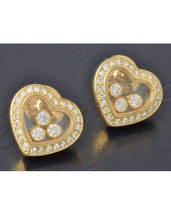 Chopard Happy Diamonds Ohrringe 750 Gold 834502 Ohrstecker