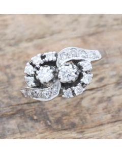 Ring 14 K Gelbgold mit 18 Diamanten zus. ca. 0,35 ct 3,4 g RG. 53
