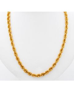 Kordelkette Halskette Kette 22 K Gelbgold 17 g. 60 cm