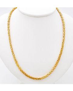 Königskette Halskette Kette 14 K Gelbgold 33,9 g. 60,5 cm