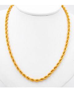 Kordel Halskette 14 K Gelbgold 9,3 g 61 cm