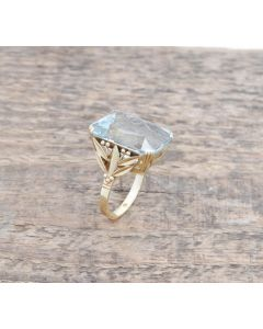 Aquamarin Ring 14K Gelbgold 22ct  8.9 Gramm