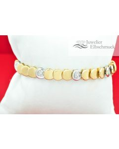 Riviere Tennis Armband 18K Gelbgold
