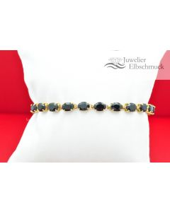 Armband aus 18K Gelbgold mit Saphiren