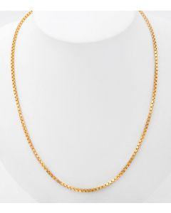 Venezianer Halskette  585 / 14 K Gelbgold  35,7 g  91 cm