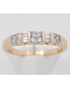Brillant Ring 14K Gelbgold mit Brillanten ca. 0,18ct 3,3 g Gr 55