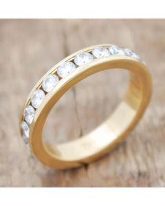 Memory Ring 22 Brillanten  Zus 1,54 ct  750 Gelbgold 4,2 g Größe 50