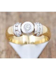 Brillant Ring Zus. ca. 0,15 ct. P2,H 18 k Gelbgold 7,6 g Größe 58